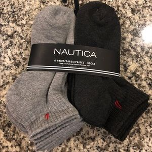 NWT Boys' Nautica Quarter 6-Pair Pack